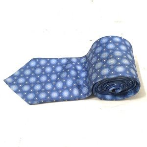 Lanvin Men's Blue Floral Neck Tie